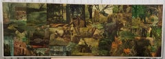 Vintage Large Scale Collage on Board by Peter Sword c.1970s