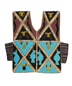 """Ceremonial Hunting Shirt - Yoruba People Nigeria,"" Glass Beads, Shells, & Cloth"