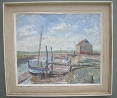 ' Sailboats at Low Tide' oil circa 1965