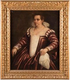 16th - 17th century Venetian figure painting - Portrait Maîtresse - Oil canvas