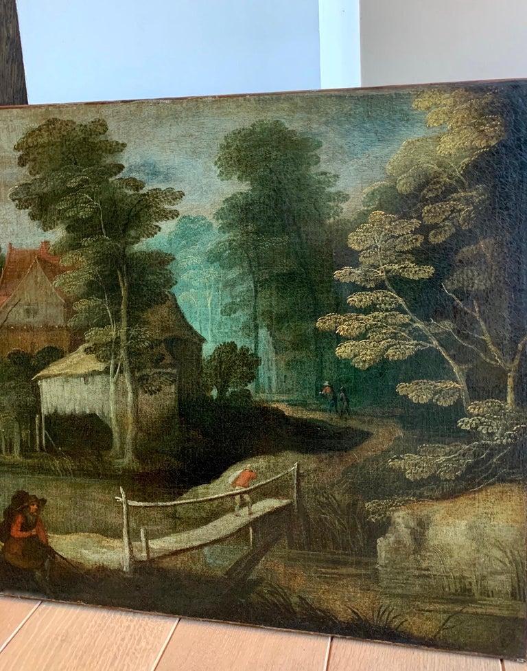 16th century flemish painting - A breugellian hunting scene 1