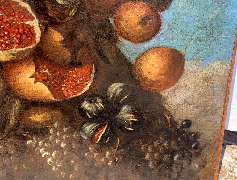 16th century Italian still life painting - Autumn - Oil Canvas Arcimboldo school For Sale 5