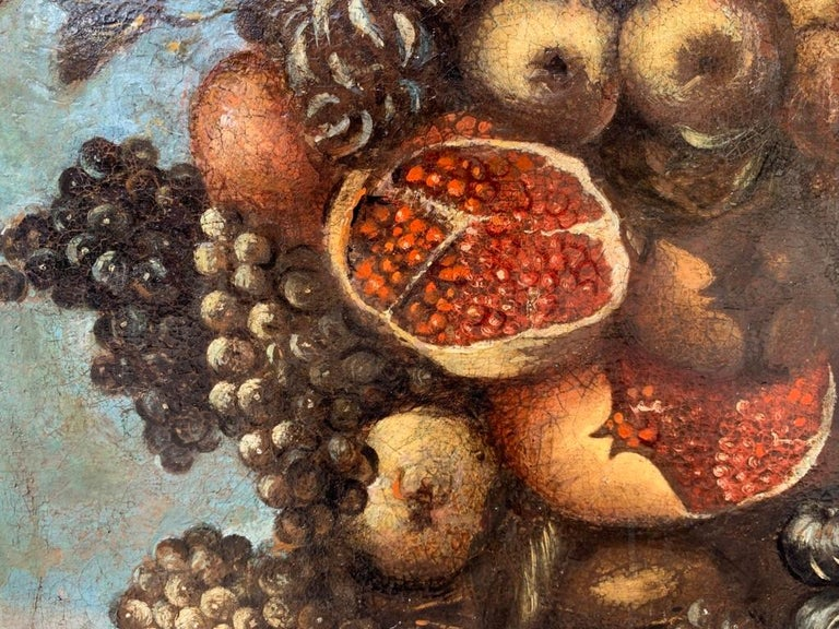 16th century Italian still life painting - Autumn - Oil Canvas Arcimboldo school For Sale 7