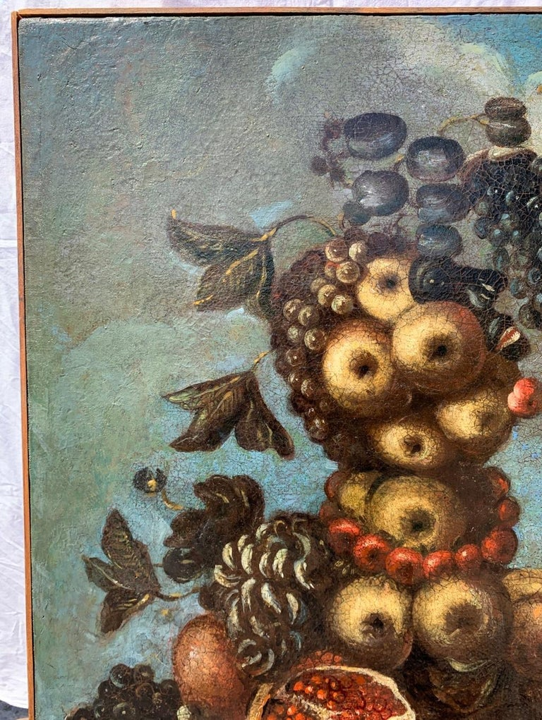 16th century Italian still life painting - Autumn - Oil Canvas Arcimboldo school - Baroque Painting by Unknown