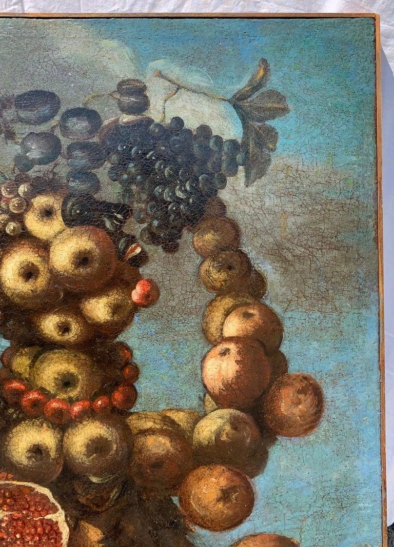 16th century Italian still life painting - Autumn - Oil Canvas Arcimboldo school - Brown Figurative Painting by Unknown