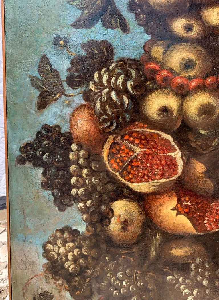 Giuseppe Arcimboldo (Milan 1527 - Milan 1593) follower of the 17th century. - Allegory of Autumn.   98.5 x 74 cm.   Oil on canvas, unframed.