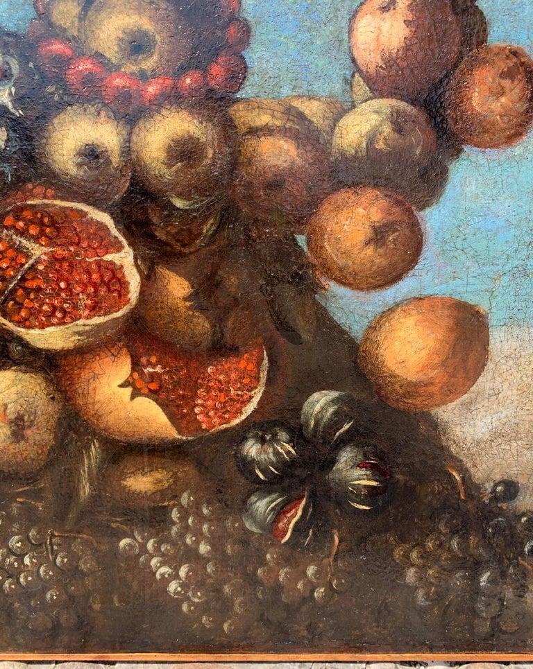 16th century Italian still life painting - Autumn - Oil Canvas Arcimboldo school For Sale 1