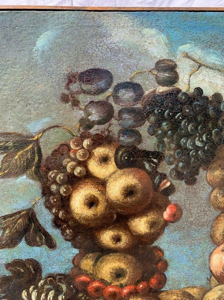 16th century Italian still life painting - Autumn - Oil Canvas Arcimboldo school For Sale 2