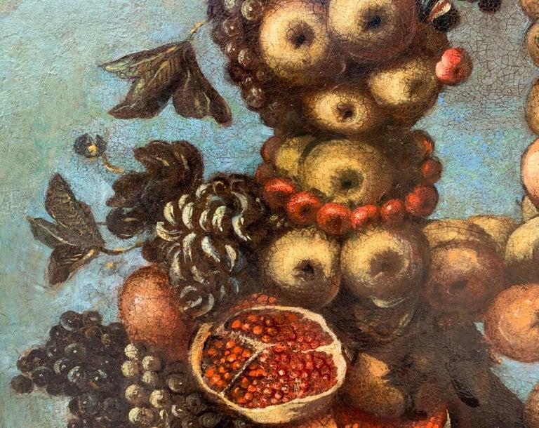 16th century Italian still life painting - Autumn - Oil Canvas Arcimboldo school For Sale 4