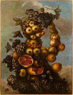 16th century Italian still life painting - Autumn - Oil Canvas Arcimboldo school