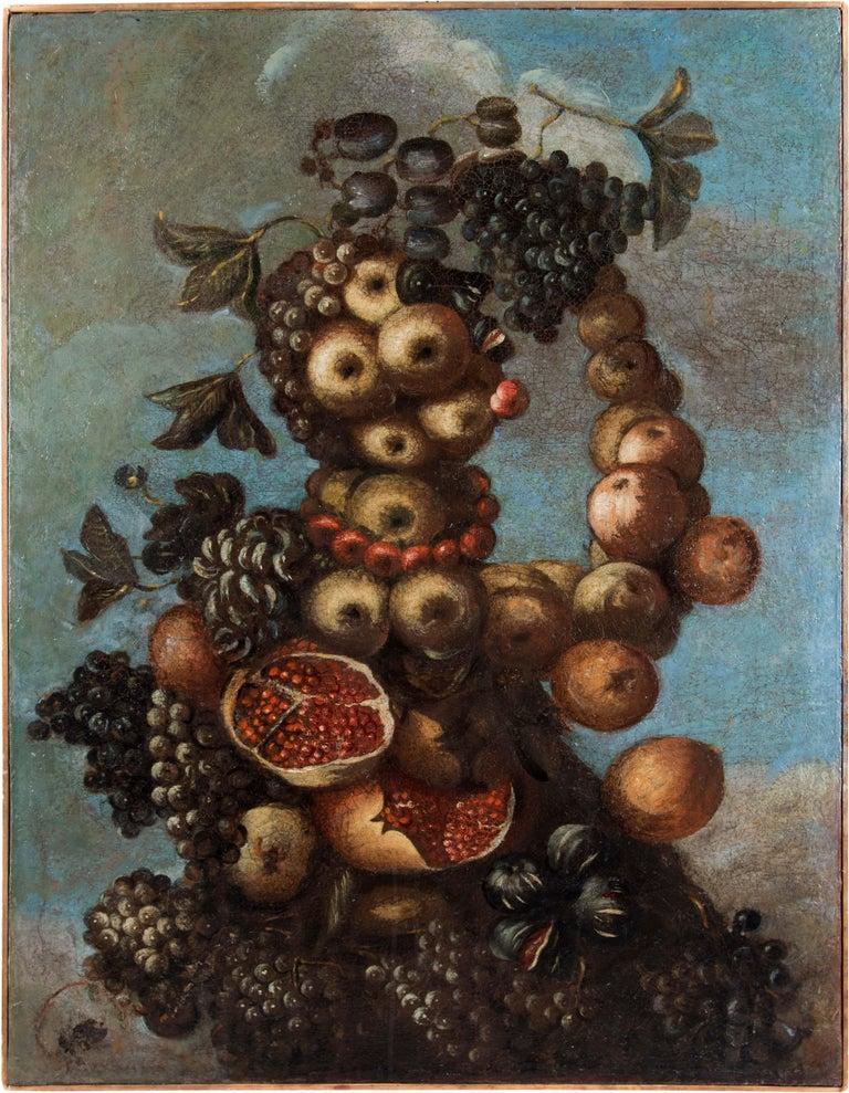 Unknown Figurative Painting - 16th century Italian still life painting - Autumn - Oil Canvas Arcimboldo school
