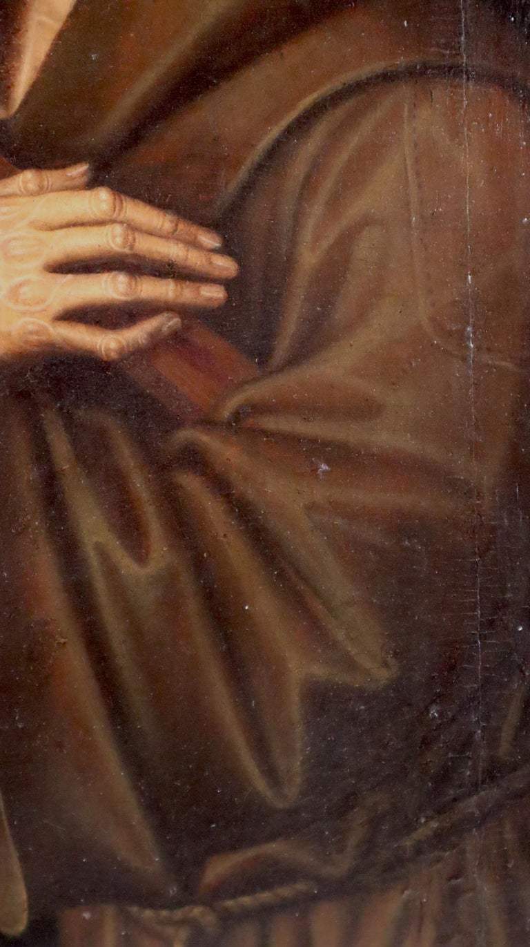 16th century Spanish painting of Saint Francis in tearful ecstasy For Sale 1