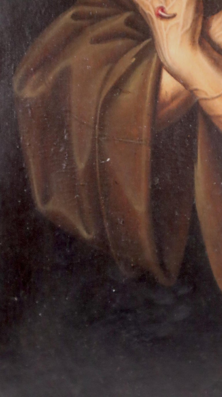 16th century Spanish painting of Saint Francis in tearful ecstasy For Sale 2