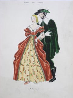 "16th Century ""Stage and Screen"" Renaissance Couple in Festive Garments"