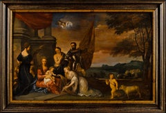 17th century Dutch figure painting - Adoration of chid - Oil on panel Baroque