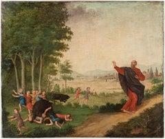 17th century Dutch figure painting - Prophet Bears - Oil on canvas Baroque