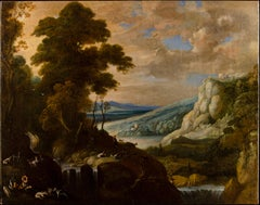 17th century Flemish landscape painting - River view - Oil on canvas Paul Brill