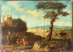 17th Century Flemish School of Brueghel Oil Painting on Copper Panel