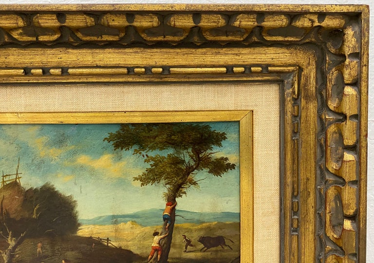 17th Century Flemish School Oil Painting on Copper Panel For Sale 1