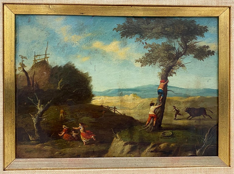 Unknown Figurative Painting - 17th Century Flemish School Oil Painting on Copper Panel