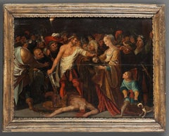 17th Century Flemish School the Beheading of John The Baptiste with Salome