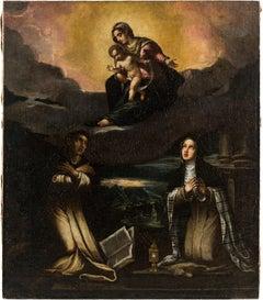 17th century Italian figurative painting - Virgin Child - Oil on canvas figure