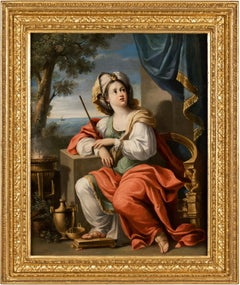 17th century Italian figure painting - Circe - Oil on copper Baroque italy