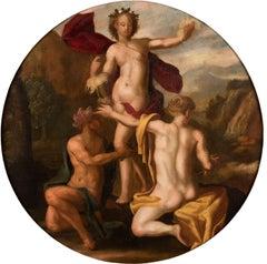 17th century Italian figure painting - Mythological - Oil Panel Prague baroque