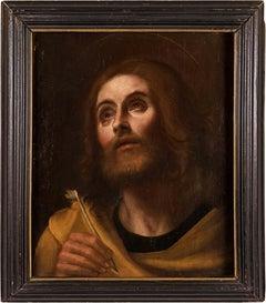 17th century Italian figure painting - St. Matthew - Oil on canvas baroque Italy