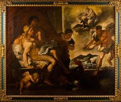 17th century Italian figure painting - Venus Mars - Oil on canvas  baroque