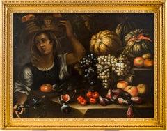 17th century Italian still life painting - Fruit - Oil on canvas Baroque Rome