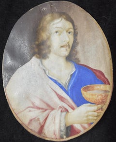 17th Century, The Christ holding a chalice, gouache on vellum