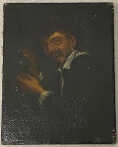 17th C. Dutch School Male Oil Portrait