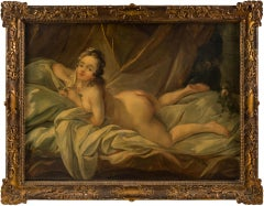 18th century French figure painting - Nude woman - Oil on canvas France Rococo
