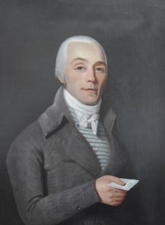 18th century  French school, Portrait of a young Gentleman man, oil