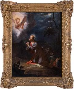 18th century German figure painting - Christ garden - Oil on panel Dutch