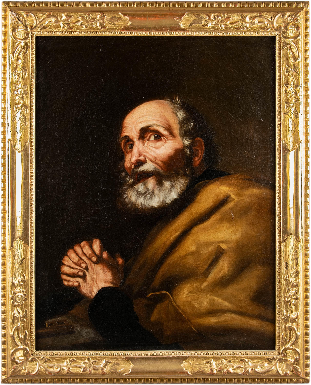 18th century Italian figure painting - Saint Peter - Oil on canvas Italy