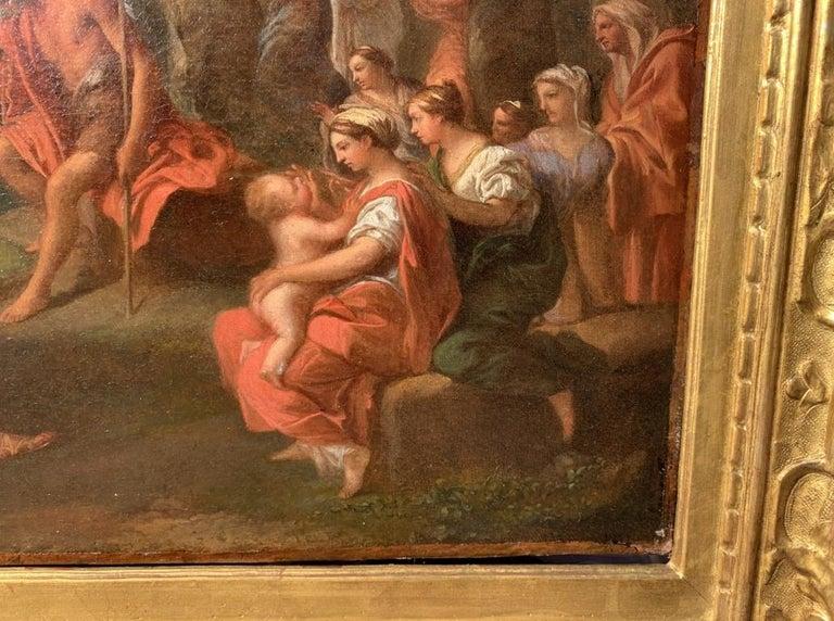18th century Italian figure painting - St. John Baptist Oil on canvas figurative For Sale 5