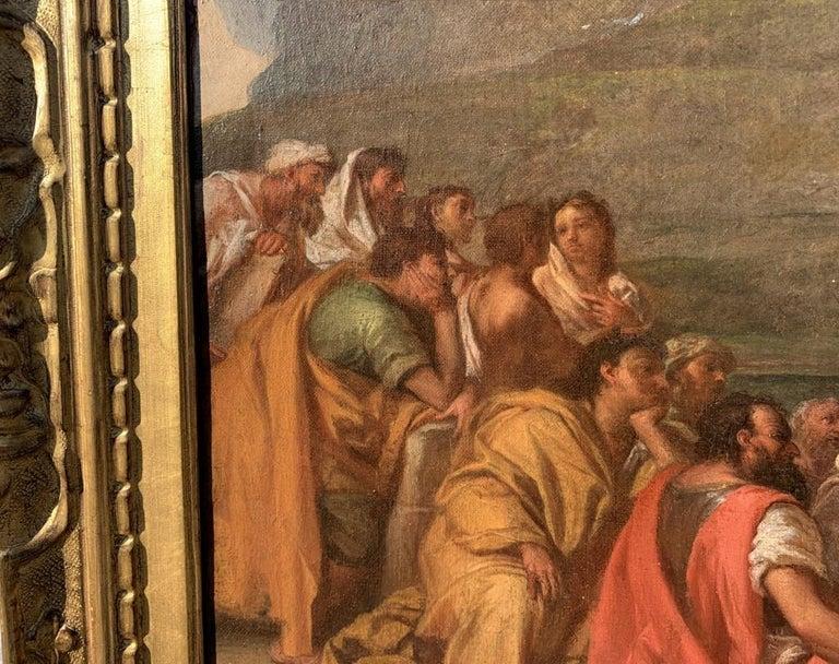 18th century Italian figure painting - St. John Baptist Oil on canvas figurative For Sale 2
