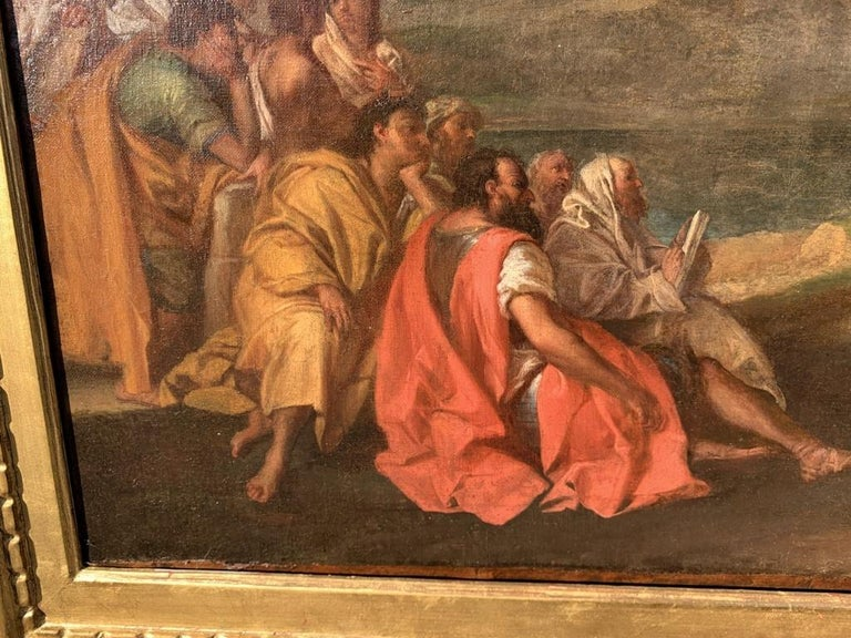 18th century Italian figure painting - St. John Baptist Oil on canvas figurative For Sale 3