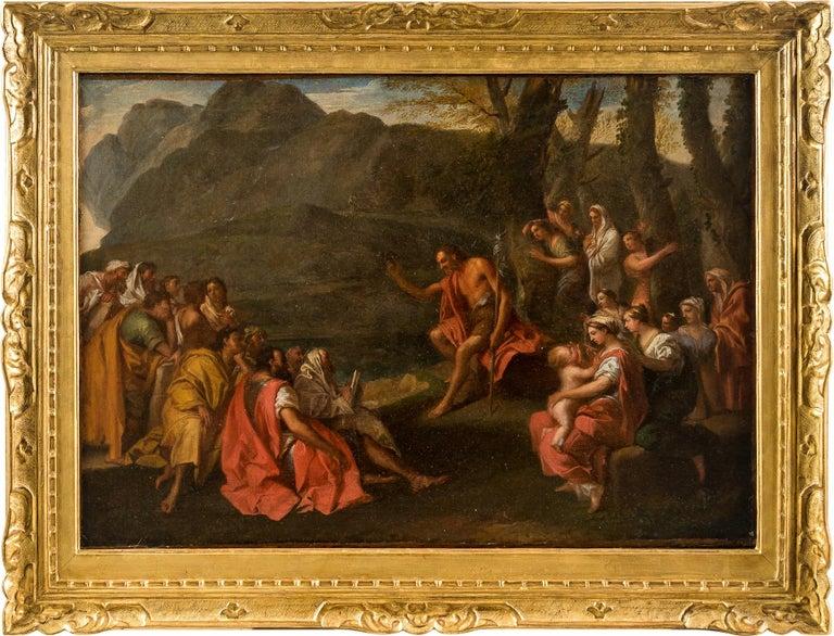 Unknown Figurative Painting - 18th century Italian figure painting - St. John Baptist Oil on canvas figurative