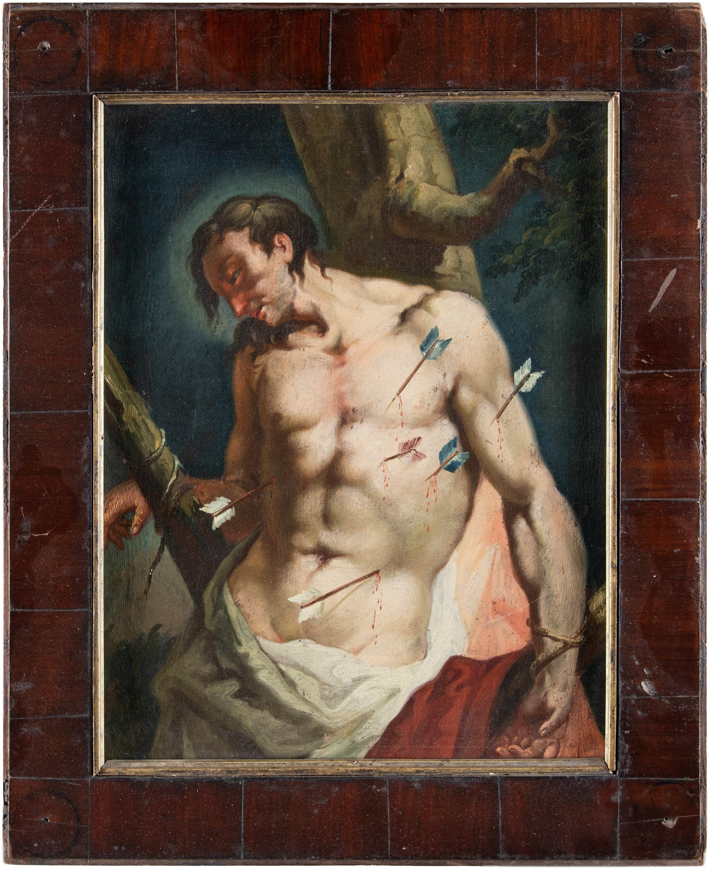 18th century Italian figure painting - St. Sebastian - Oil on canvas Venice