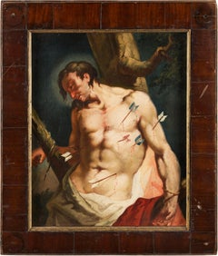 18th century Italian figure painting - St. Sebastian - Oil on canvas Venice Ital