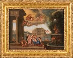 18th century Italian figure painting - Venus Toelette - Oil canvas Rococò Italy
