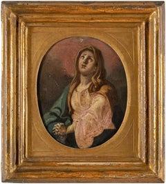 18th century Italian figure painting - Virgin Madonna - Oil on canvas Italy