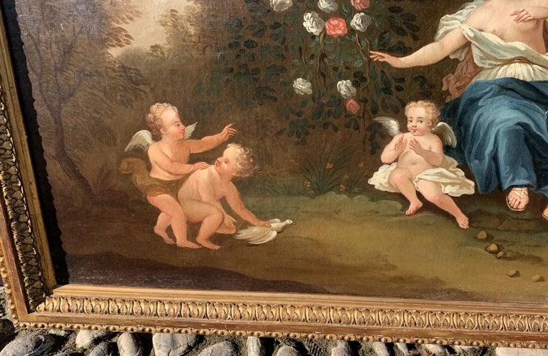 18th century Italian landscape painting - Mythological scene - Oil on canvas  For Sale 5