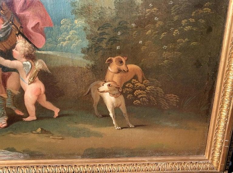 18th century Italian landscape painting - Mythological scene - Oil on canvas  For Sale 7