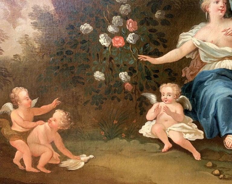 18th century Italian landscape painting - Mythological scene - Oil on canvas  For Sale 8