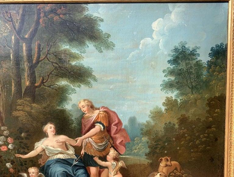 18th century Italian landscape painting - Mythological scene - Oil on canvas  For Sale 1