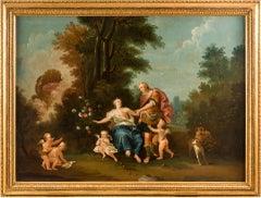 18th century Italian landscape painting - Mythological scene - Oil on canvas